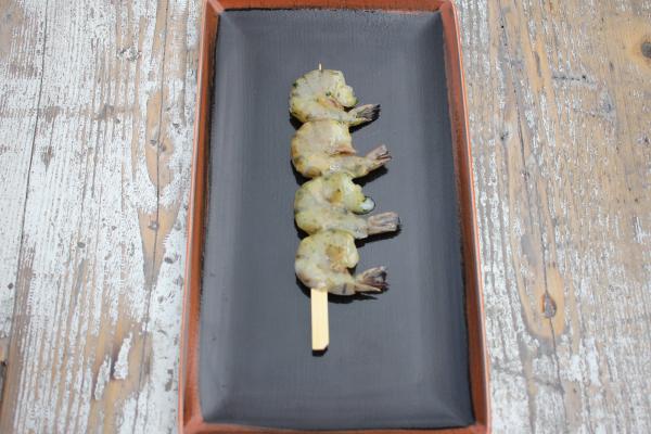 Riesengarnelenspieße Easy Peel Knoblauch Kräuteröl zum Grillen