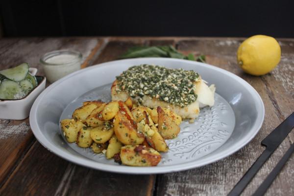 Kabeljau-mit-Salbei-Parmesan-Pesto