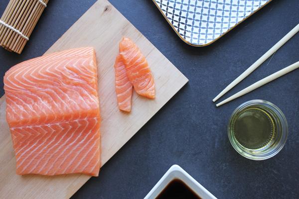Lachsfilet (Sushiqualität) - frisch, ohne Haut