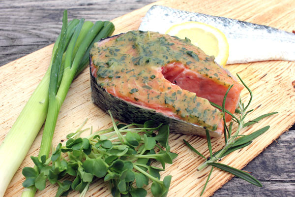 Lachs Steak zum Grillen - Friesisch