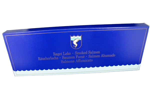 Lachs Geschenkkarton blau
