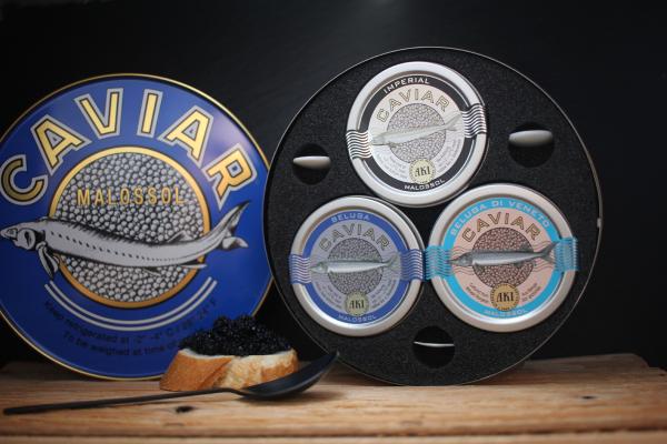 AKI Caviar Trio Geschenkdose Beluga