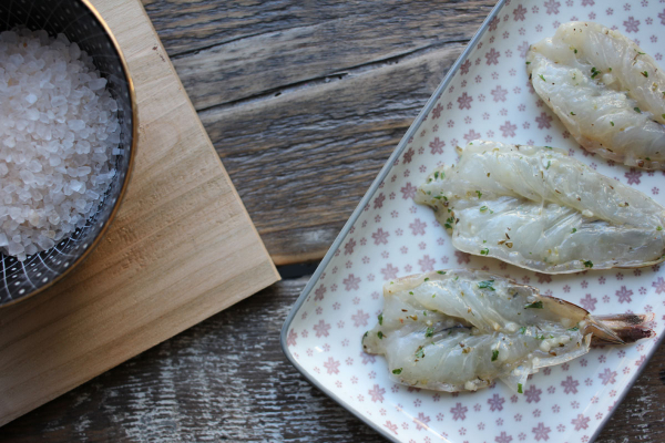 Garnelen Knoblauch - roh, fertig mariniert zum Grillen