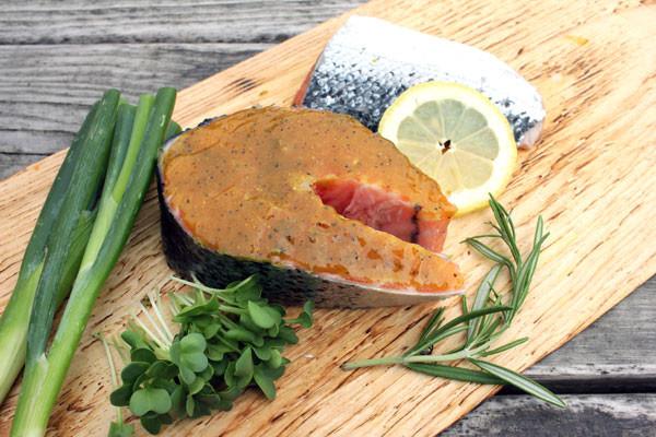 Lachs Steak zum Grillen - Indisch