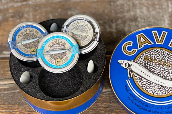 AKI Caviar Trio Beluga Imperial Auswahl