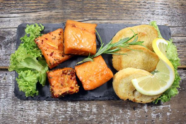 Stremel Lachs Würfel - Fingerfood